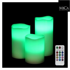 bougies led multicolores avec telecommande tartifumedeco. Black Bedroom Furniture Sets. Home Design Ideas